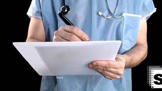 Thumbnail for Surgeon Writing Prescription