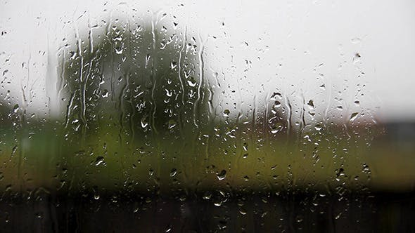 Thumbnail for Glass Windows With Raindrops
