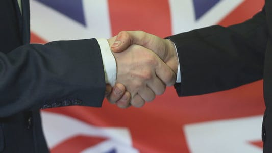 British Businessmen Handshake