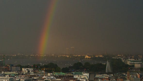 Thumbnail for Rainbow over the City