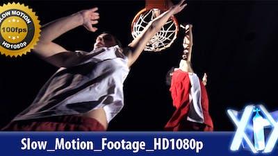 Basketball Player Shoots