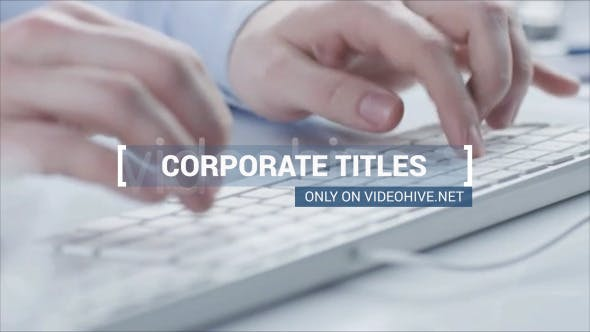 Thumbnail for Corporate Titles and Lower Thirds