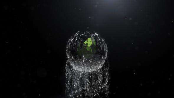 Thumbnail for Revelar el Logo de líquido esférico