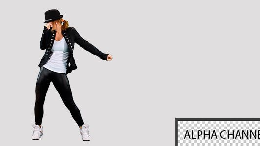 Thumbnail for Girl Dancing On A Transparent Background 6