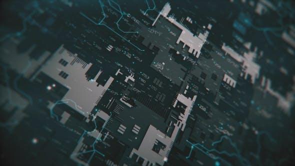 Thumbnail for High Tech Background 4 K
