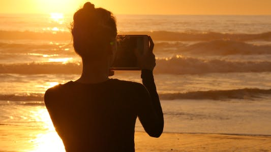 Thumbnail for Girl Making Photos with Tablet