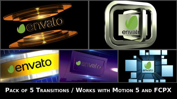 Thumbnail for Broadcast Logo Transition Pack V2 - Apple Motion