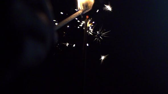 Thumbnail for Sparkler Being Ignited 11