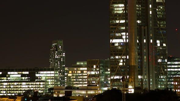 Thumbnail for London Financial Center At Night England
