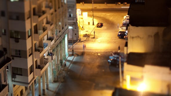 Havana Cuba Traffic Night Life 4