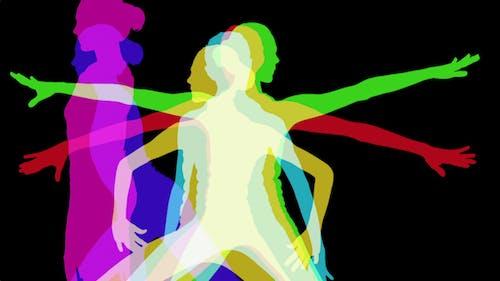 Yoga Shillouettes, Power Energy And Vitality