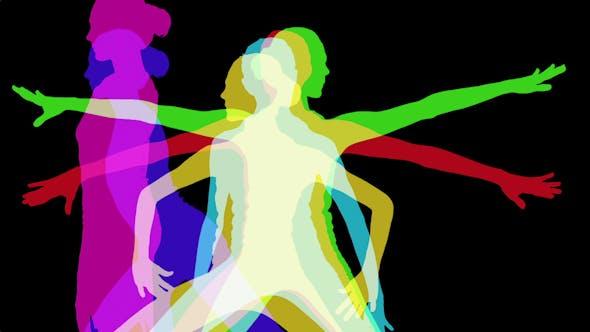 Thumbnail for Yoga Shillouettes, Power Energy And Vitality