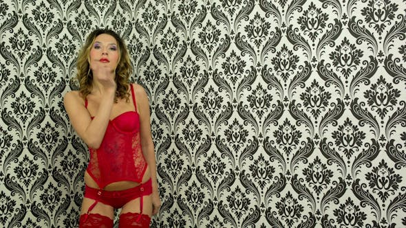 Thumbnail for Sexy Red Lingerie Dancer 18