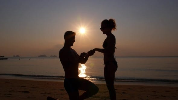 Sunset Marriage Proposal