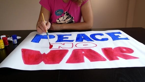 Thumbnail for Woman Painting Peace No War