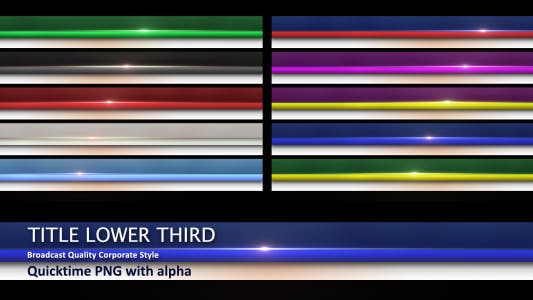 Thumbnail for Title Lower Third