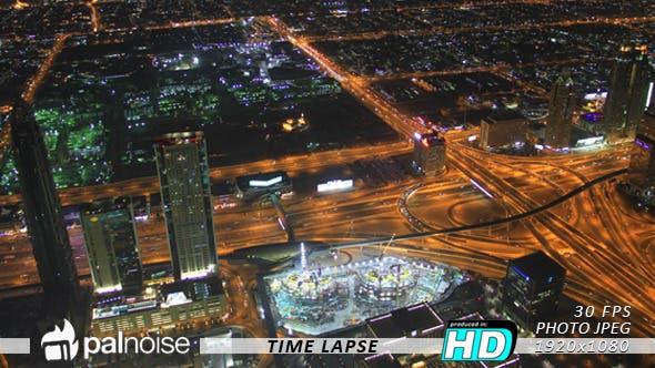 Thumbnail for Dubai Aerial Night Skyline