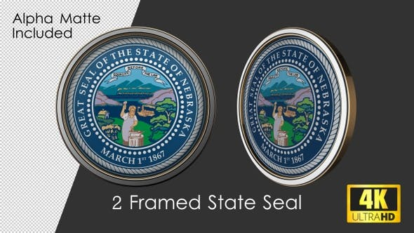 Thumbnail for Framed Seal Of Nebraska State
