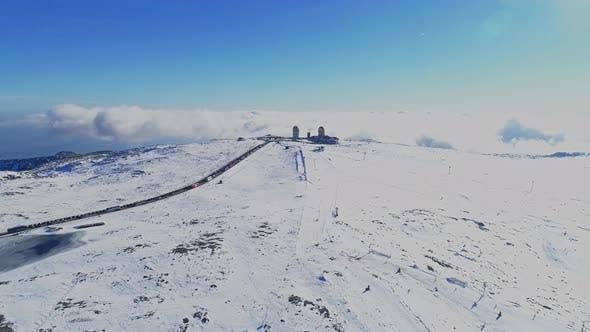 Thumbnail for Winter Snow Mountain of Serra da Estrela in Portugal