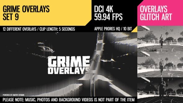 Thumbnail for Grime Overlays (4K Set 9)