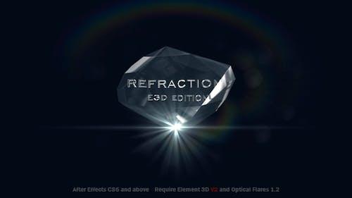Refraction 2   Element 3D V2 Logo Reveal