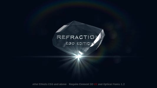 Refraction 2 | Element 3D V2 Logo Reveal