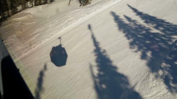 Ski Chair Lift Shadow