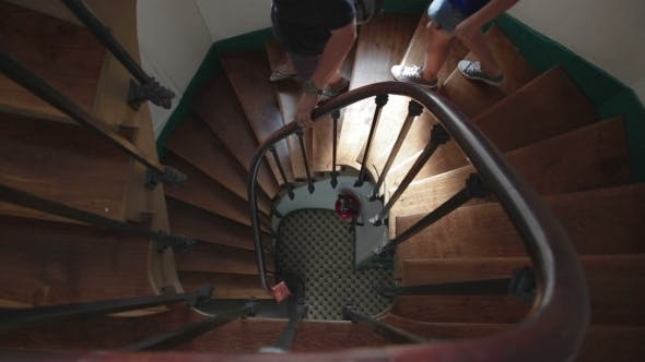 People Get Down The Stairs