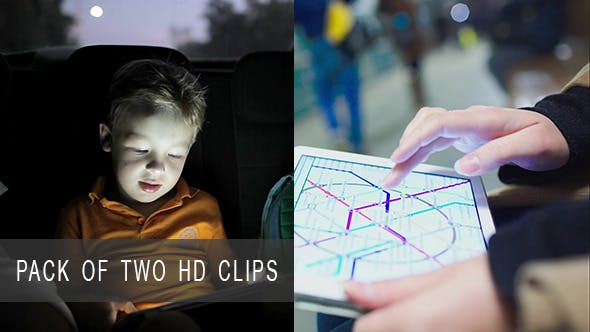 Thumbnail for Child And Woman Using Touch Pad In Transport