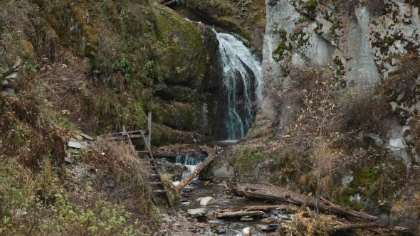 Thumbnail for Waterfall In Mountains Of Altay Republic