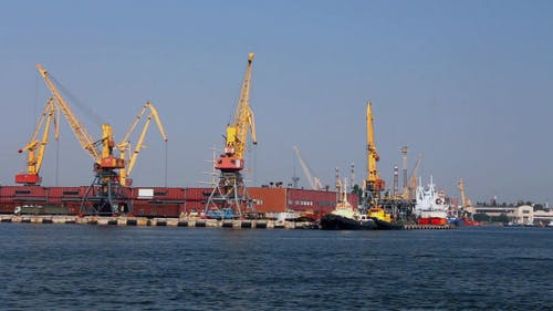 A Cargo Cranes In The Port