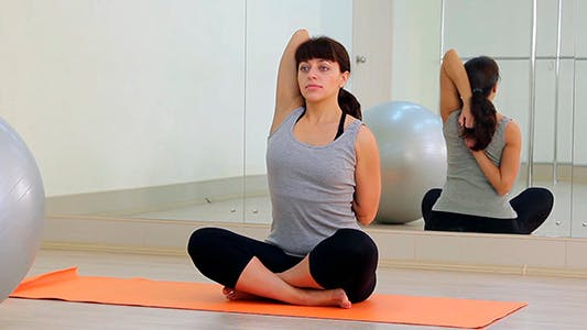 Thumbnail for The Girl Is Engaged In Yoga 4