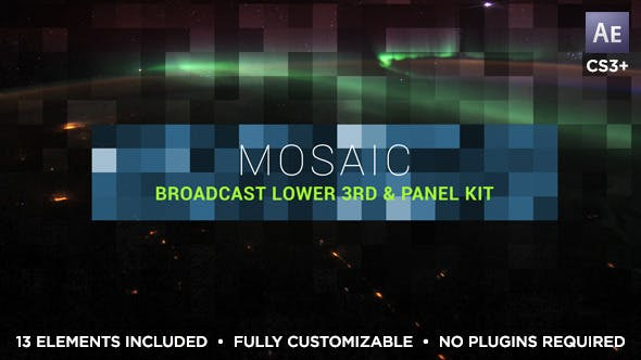 Thumbnail for Mosaic Lower Third & Title Kit