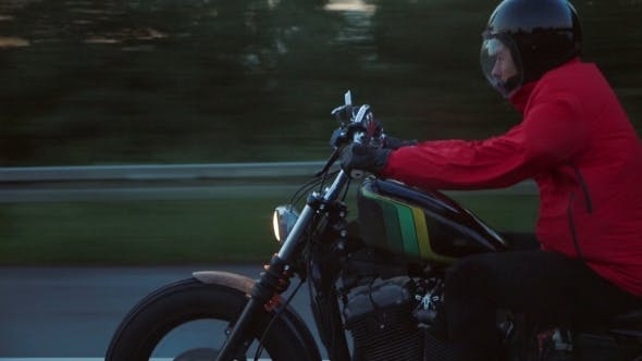Thumbnail for Motorcyclist On The Open Road