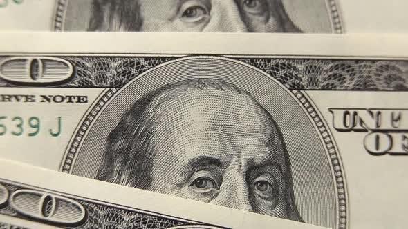 Thumbnail for Einhundert Dollar Banknoten Makro