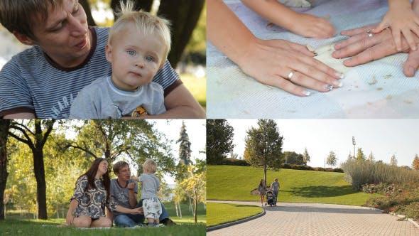 Thumbnail for Family Walking In City Park