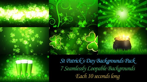 Thumbnail for St Patrick's Day Backgrounds Pack