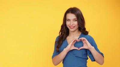 Heart Gesture Romantic Message Woman Love Sign