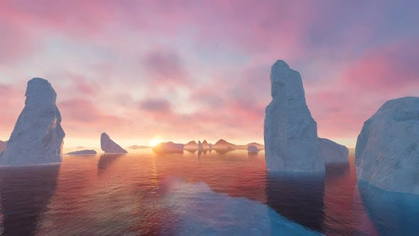 Thumbnail for Glacier in Antarctica V2