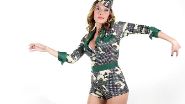 Thumbnail for Sexy Army Military Babe 1
