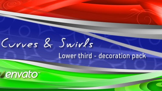 Thumbnail for Curves & Swirls lower third - decoration pack
