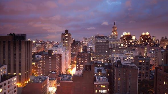 Thumbnail for New York Skyline Manhattan Nyc Ny Night 4