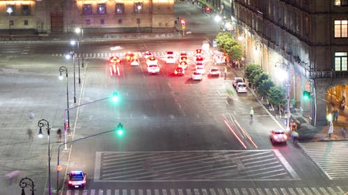 Mexico City Zocalo Traffic