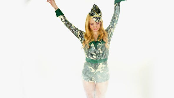 Thumbnail for Female Army Costume Dancer 5