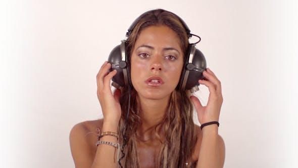 Thumbnail for Beautiful Model Music Headphones Vintage 1