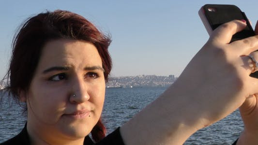 Thumbnail for Young Girl Took Selfie near the Seaside 3