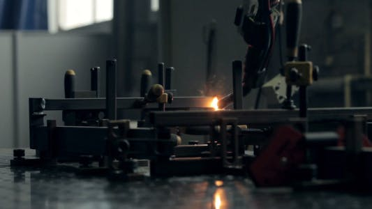 Thumbnail for Close-up Welding Robots Works