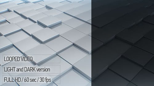 3D Background with Cubes Animation