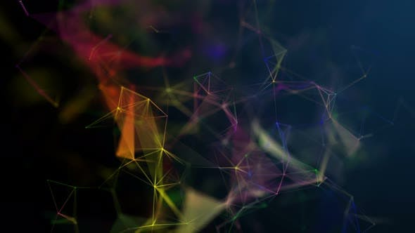 Thumbnail for Colorful Plexus Background Seamless Loop 1