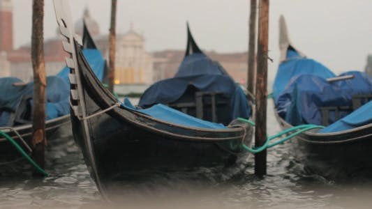 Thumbnail for Gondolas Sway On The Waves In Venice